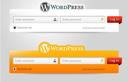Fresh WordPress Login Form Set