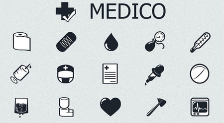 MedICO – Free Black and White Medical Icon Set