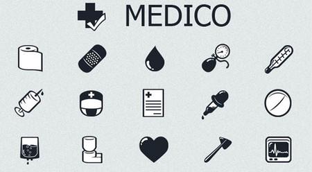 MedICO – Free Black and White Medical Icon Set