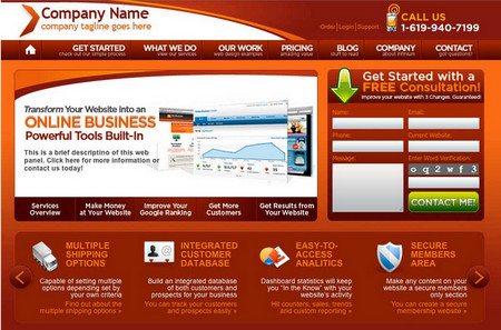 PSD and Web Template for Hosting Company