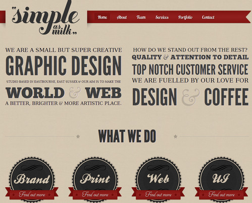 Simple as a Milk - Graphic and Web Design