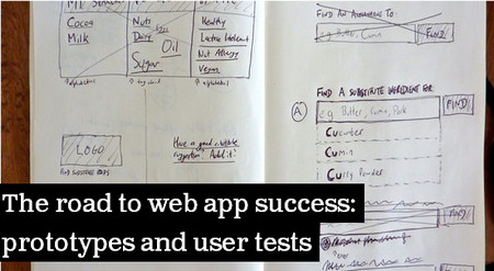 The road to web app success: prototypes and user tests