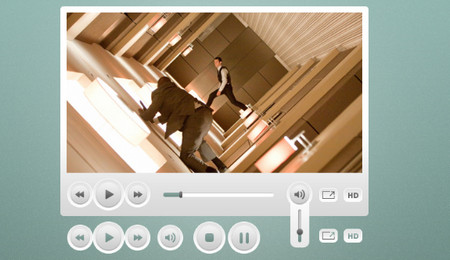 Sleek Video Player User Interface