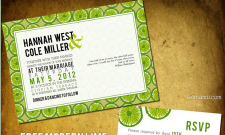 Modern Wedding Invitation + RSVP