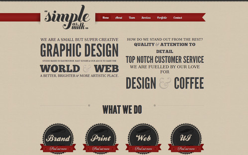 Simple as Milk - Graphic and Web Design