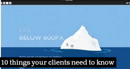 10 things your clients need to know