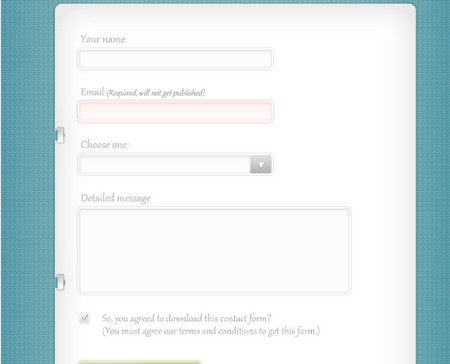Simple Contact Form (Free PSD Template)
