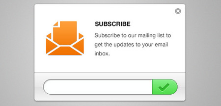 Clean Email Newsletter Subscription Form