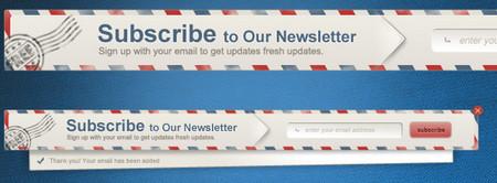 Newsletter Envelope Signup Pop Up Form