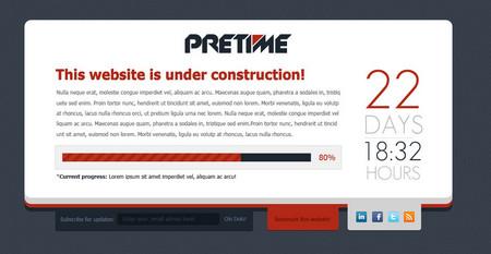 """Pretime - """"Under Construction"""" .psd temp"""