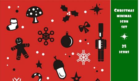 Christmas minimal icon set