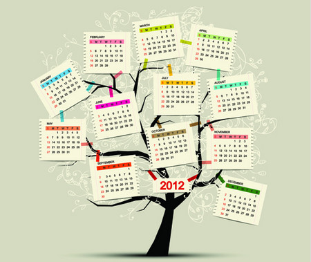 Plan 2012 with 50 creatively designed calendars