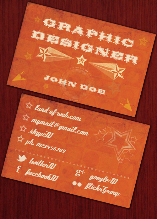 Retro Business Card preview