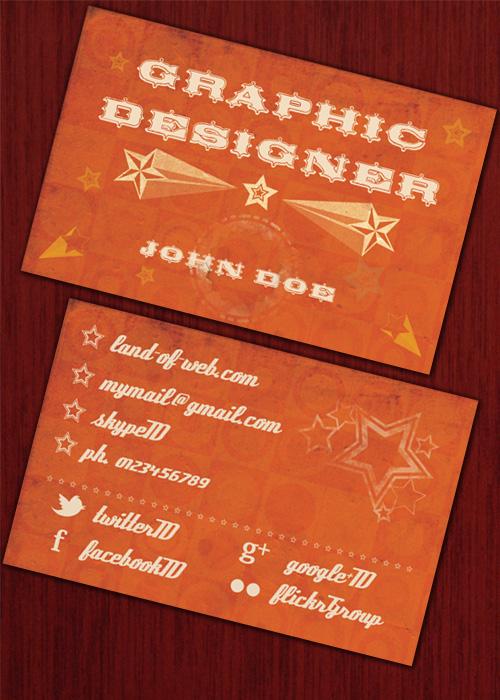 Retro Business Card preview