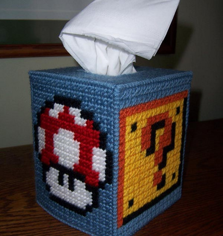 Super Mario Themed Tissue Box Cover