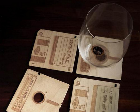 Custom Floppy Disk Styled Coaster Set