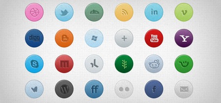26 Color Social Media Icons