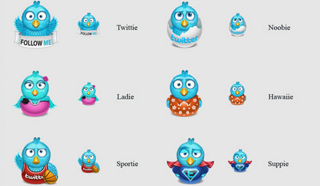 Twitter Icon Pack for Bloggers and Webmasters