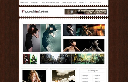 Depositphotos Blogger Template