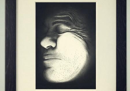 3.2 million ink dots Portrait by Miguel Endara