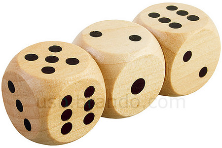Wooden Dices Flash Drive