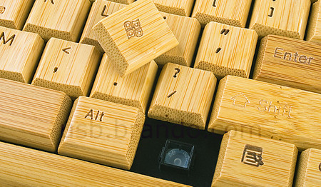 Full Bamboo Keyboard with Mouse