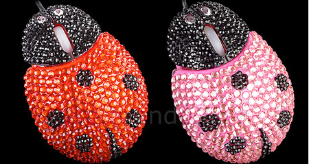 Bling Bling Ladybug Optical Mouse
