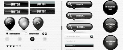 Black Web UI Elemetns