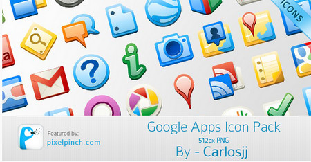 Google Apps Icon Pack – 512px PNG