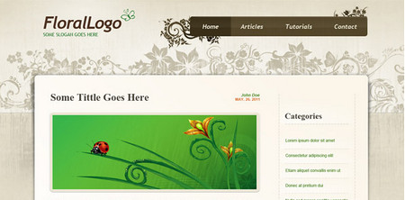 Floral PSD Website Template