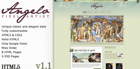 Angelo – Art Template – HTML