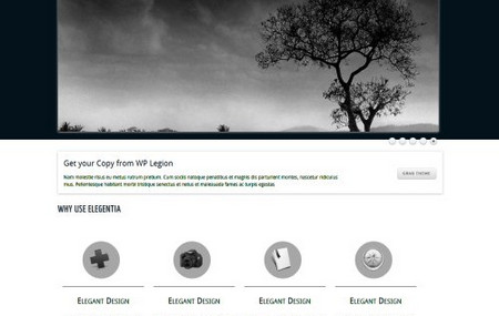 Elegantia, a Free Portfolio WordPress Theme from WPLegion