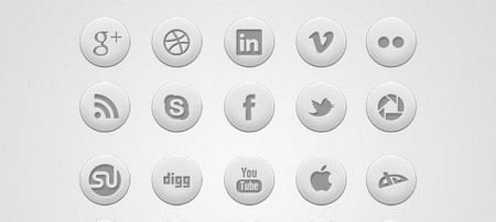Round Social Icon Set