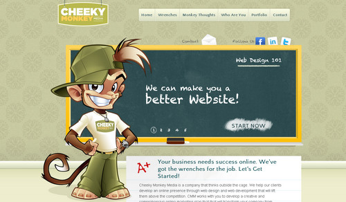 Cheeky Monkey - Web Design and Development