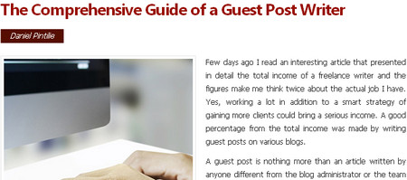 The Comprehensive Guide of a Guest Post Writer