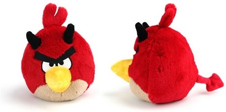 "Red Bird With Horns - 5"" Angry Birds Plush"