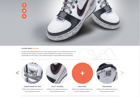 website psd template! Introducing 'Pump' a product based website design and layout