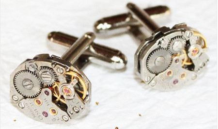 SEIKO Men Steampunk Cufflinks