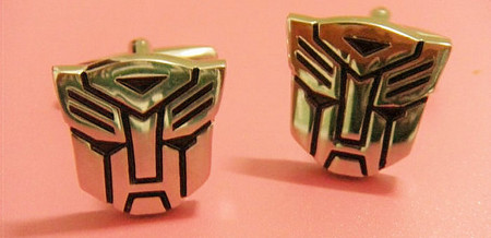 Transformer Optimus Prime Logo Cufflinks