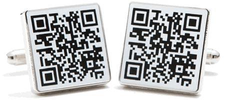 QR Code Cufflinks
