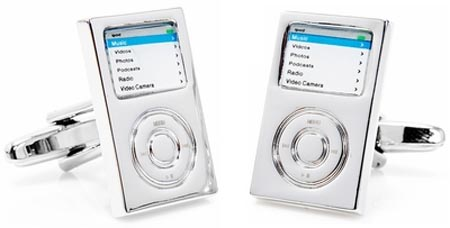 Enamel MP3 Player Cufflinks