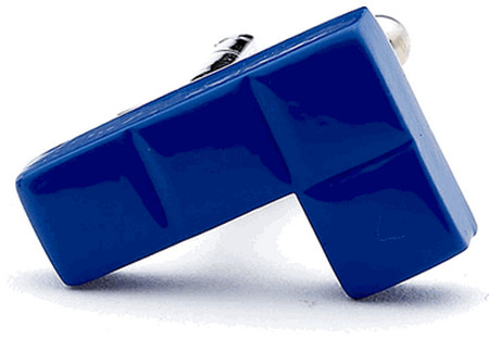 Blue Video Game Puzzle Cufflinks