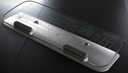 Glass Multi-Touch Keyboard & Mouse