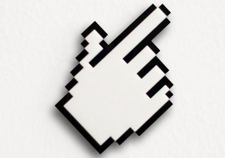 Pixel Hand Cursor Brooch