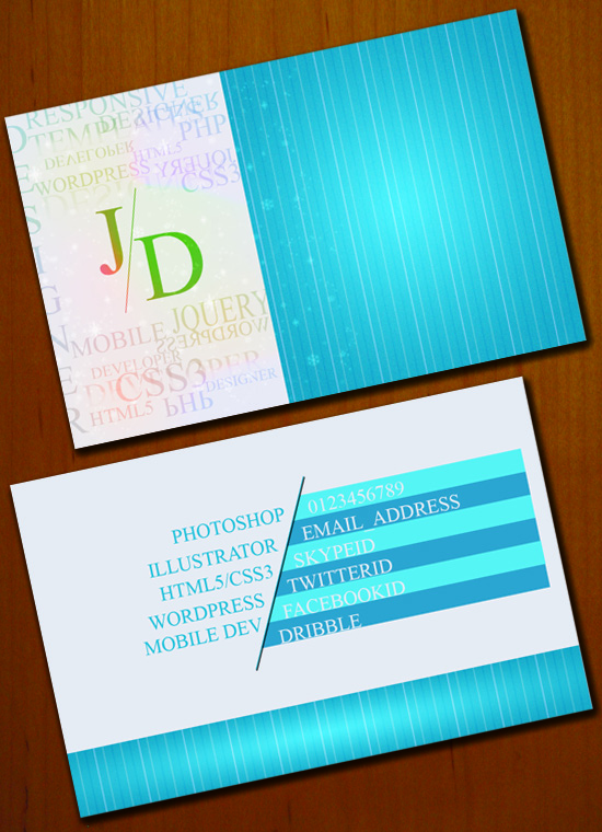 preview FREE Business Card PSD Template