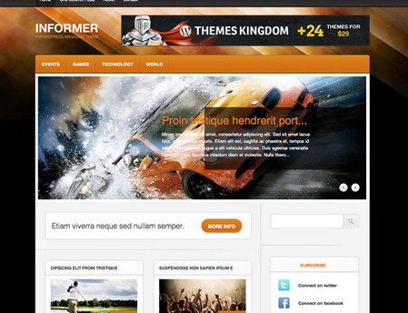 Informer Theme Home Page