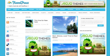 TravelPress - is a theme  for travel & holiday portal