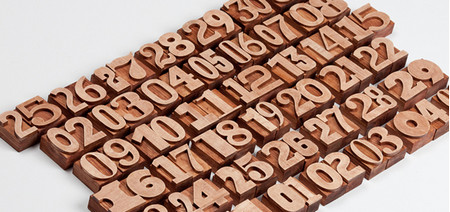 Great Project : Wooden Letterpres Calendar