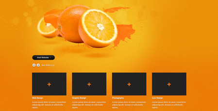 "website template called ""Orange""."