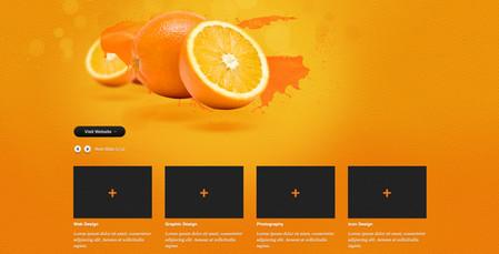 "website template called ""Orange""."